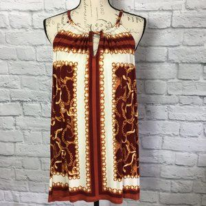Rose & Olive Tunic Chain & Tiger Pattern Size L